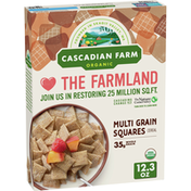 Cascadian Farm Organic Multi Grain Squares Cereal