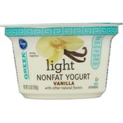 Kroger Yogurt, Greek, Nonfat, Vanilla, Light