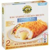 Barber Foods Breaded Raw Stuffed Chicken Breasts Cordon Blue - 2Ct