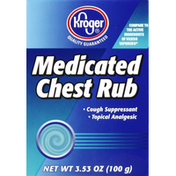 Kroger Chest Rub, Medicated