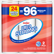 Meijer Ultra Strong Bath Tissue, 24 Mega Rolls