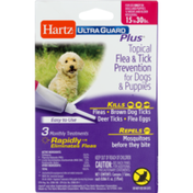 Hartz Ultra Guard Plus Topical Flea & Tick Prevention for Dogs & Puppies 15-30 LBS - 3 CT