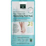 Earth Therapeutics Foot Mask, Moisturizing, Tea Tree Oil