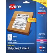 Avery Shipping Labels, Internet, White, Laser/Inkjet