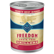 Blue Buffalo Freedom Grillers Grain Free Natural Adult Wet Dog Food, Hearty Beef