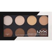 NYX Professional Makeup Pro Palette, Highlight & Contour HCPP01