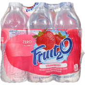 Fruit 2 O Purified Water Beverage, Strawberry, 6 Pack