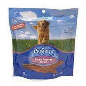 Priority Pet Bacon Flavored Strips Dog Treats