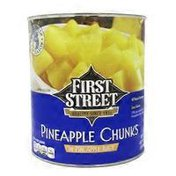 First Street Pineapple Chunks In Pineapple Juice