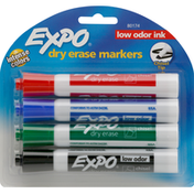 Expo Dry Erase Markers, Low Odor Ink, Chisel Tip