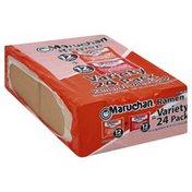 Maruchan Ramen Noodle Soup, Variety 24 Pack
