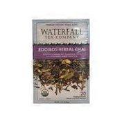 Waterfall Tea Company Organic Rooibos Herbal Chai 20 ct