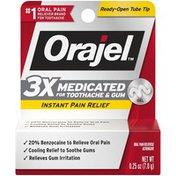 Orajel Medicated Toothache & Gum Instant Pain Relief Gel