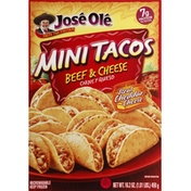 José Olé Mini Tacos, Beef & Cheese