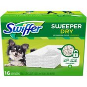 Swiffer Unscented Sweeper Dry Sweeping Pad Pet Multi Surface Refills for Dusters Floor