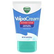 Vicks Vapocream, Soothing & Moisturizing Vapor Cream, Easy Apply, Safe For