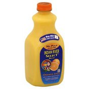 Indian River Select 100% Juice, Orange, No Pulp
