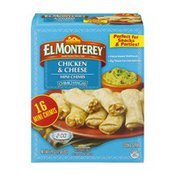 El Monterey Mini Chimis Chimichangas Chicken & Cheese - 16 CT