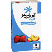 Yoplait Light Yogurt, Strawberry and Harvest Peach, Fat Free