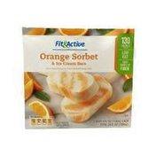 Fit & Active Orange Sorbet Low Fat Ice Cream Bars