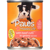 Paws Happy Life Beef Cuts In Gravy Dog Food