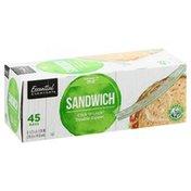 Essential Everyday Sandwich Bags, Double Zipper