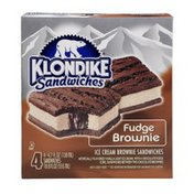 Klondike Fudge Brownie Ice Cream Sandwiches