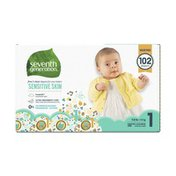Seventh Generation Baby Diapers With Animal Prints Size 1, 8-14lbs