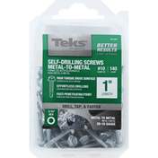 Teks Screws, Self-drilling, Metal-to-Metal, 1 Inch Length