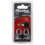 Master Lock Key Locks, 2 Pack, Blister Pack