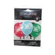 Amscan Happy Birthday Helium Quality Balloons