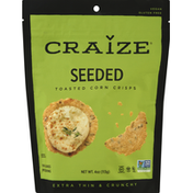 Craize Corn Crisps, Toasted, Seeded, Extra Thin & Crunchy