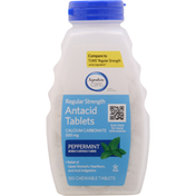 Signature Care Antacid Tablets, Regular Strength, Chewable Tablets, Peppermint