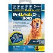 Petlock Plus for Dogs 45-88 lbs. Flea and Tick  Dogs Flea and Tick Treatment