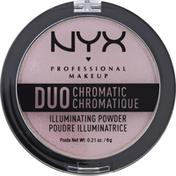 NYX Professional Makeup Powder, Illuminating, Lavender Steel DCIP02