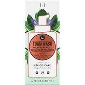 L. Fragrance Free Period Care Foaming Wash, Ph Balanced, Free Of Fragrances
