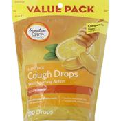 Signature Care Cough Drops, Menthol, Honey Lemon, Value Pack