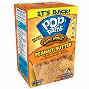 Kellogg's Pop-Tarts Gone Nutty! Breakfast Toaster Pastries, Peanut Butter