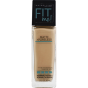 Maybelline Foundation, Matte + Poreless, Nude Beige 125