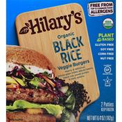 Hilary's Veggie Burgers, Organic, Black Rice