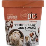 PICS Ice Cream, Double Coconut and Almonds