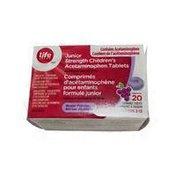 Life Brand Children's Junior Strength Grape Acetaminophen Tablets