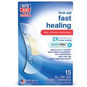 Rite Aid Fast Healing Clear Adhesive Bandages