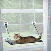 "K&H Pet Products 12"" x 23"" Gray & Black EZ Mount Kitty Sill Cat Perch"