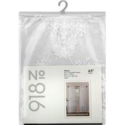 No 918 Window Panel, Alison, White, 63 In Length
