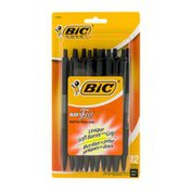 BiC Soft Feel Ball Pen Medium 1.0mm Black - 12 CT