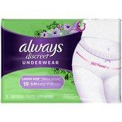 Always Lower Rise S/M Underwear