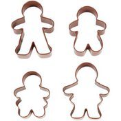 Wilton 4-Piece Gingerbread Family Cookie Cutter Set