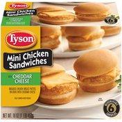 Tyson with Cheddar Cheese Mini Chicken Sandwiches