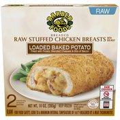 Barber Foods Loaded Baked Potato Breaded Raw Stuffed Chicken Breasts